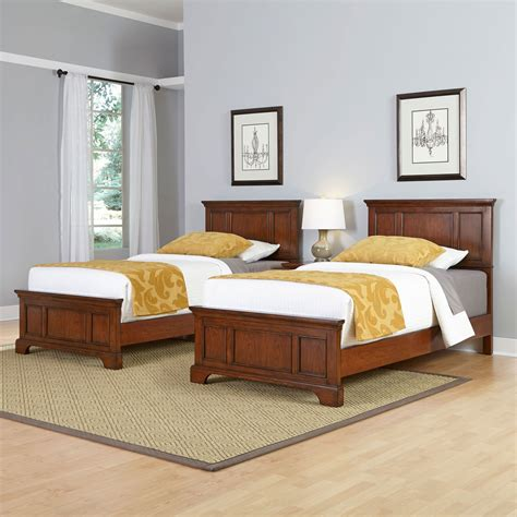 Chesapeake Cherry Two Twin Beds And Night Stand Home Styles Furniture Standard