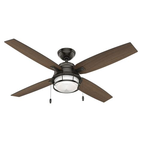 outdoor ceiling fans with led lights hunter ocala 52 in led outdoor noble bronze ceiling fan