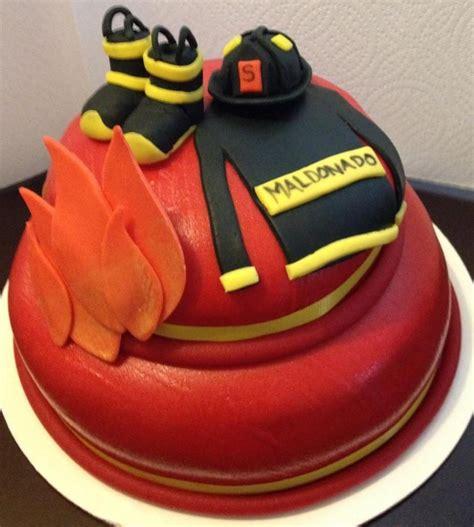 birthday cake  firefighter cupcakes fireman