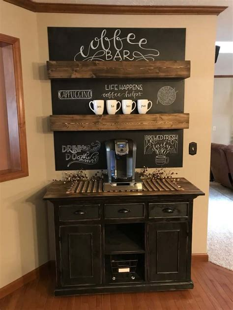 Creating your own beautiful furniture is easier than you think. 28 Best Coffee Bar Ideas to Kickstart Your Days in 2021