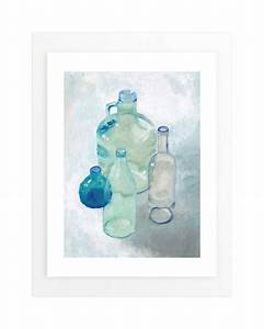 Glass bottles wall art prints by iron range artery minted