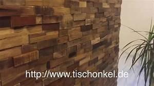 Wandverkleidung Aus Holz : wandverkleidung aus recyceltem holz hwv44nr youtube ~ Buech-reservation.com Haus und Dekorationen