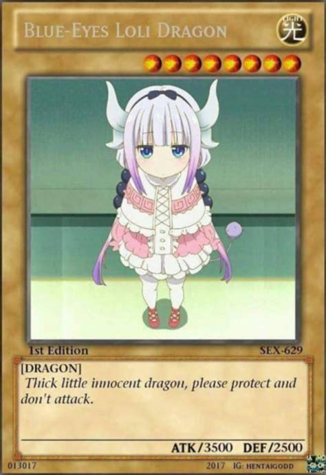 Loli Memes - blue eyes loli dragon fake ccg cards know your meme