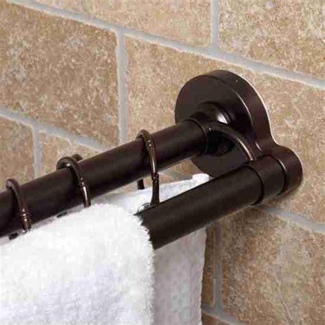 rubbed bronze shower curtain rod decor ideasdecor ideas