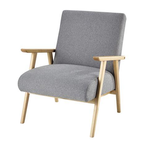 fauteuil en tissu gris benson maisons du monde