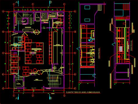pub video dwg section  autocad designs cad