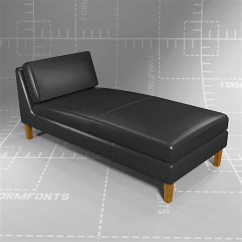 chaise dwg ikea karlstad chaise lounge 3d model formfonts 3d models