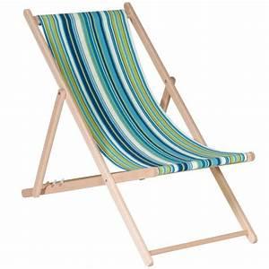 Chilienne En Bois : chilienne en bois inclinable 4 positions toile bleu vert bricozor ~ Teatrodelosmanantiales.com Idées de Décoration