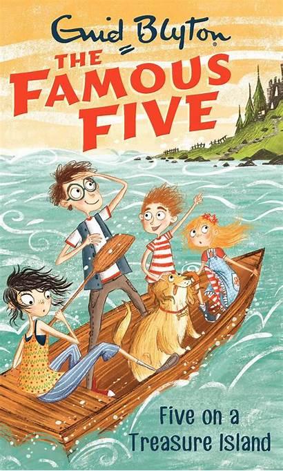 Five Famous Island Treasure Paperback Enid Blyton