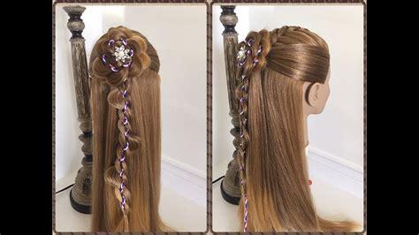 trenza con flor paso a paso peinados faciles y rapidos lph