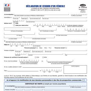 acte cession vehicule certificat de cession