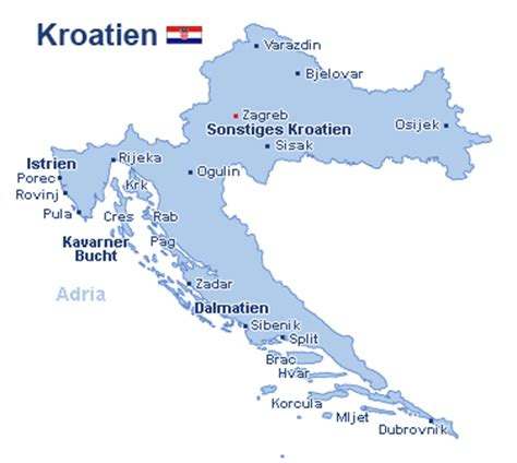 kroatien urlaubsorte sandstrand karte kroatien flugh 228 fen kleve landkarte