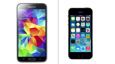 iphones on samsung galaxy s5 vs apple iphone 5s flagship