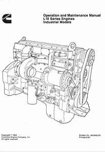 Cummins L10 Series Engine Industrial Models Manual