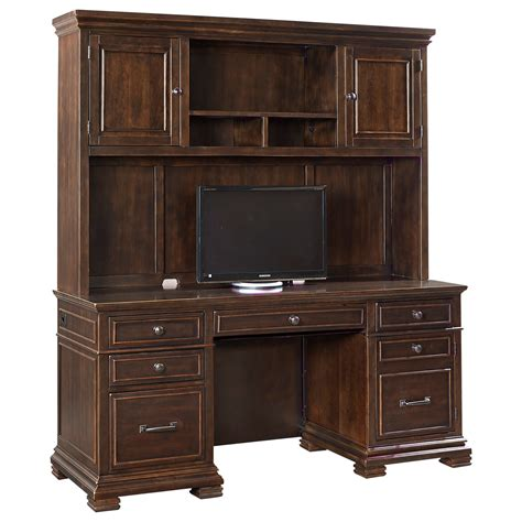 desk credenza aspenhome weston credenza with hutch and charging station