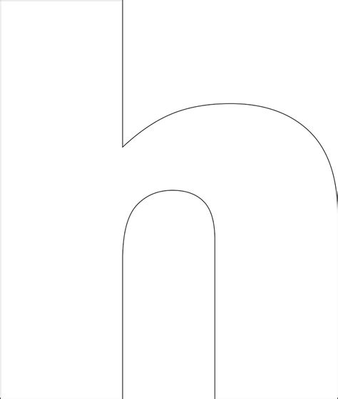 letter h template free printable lower alphabet letter template