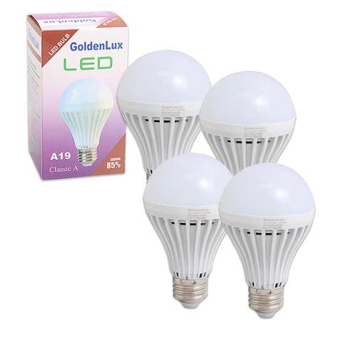 4 x led light bulb 7w e26 120v energy saving bright l