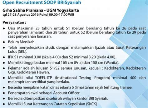 lowongan kerja bank bri syariah terbaru    agustus