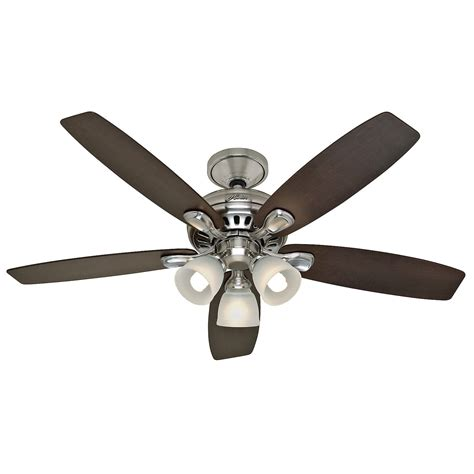 Brushed Nickel Ceiling Fan With Remote by 52 In Brushed Nickel Ceiling Fan With Light