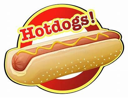 Hotdog Label Illustration Vector