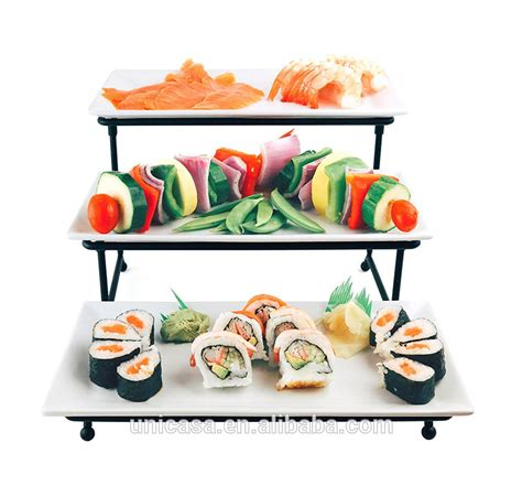 unicasa  tier strong rack stand  ceramic plates  tiered cake serving tray dessert