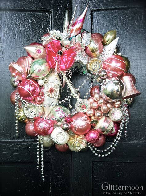 pink christmas wreaths new york and exciting news glittermoon vintage