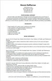 facility maintenance manager resume professional facility lead maintenance templates to