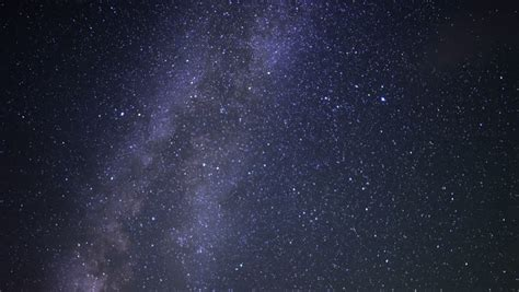 Time Lapse Milky Way Slowly Turing Clockwise Galaxy