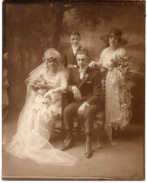 vtg  photo victorian wedding child bride groom