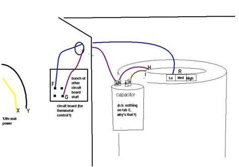 Rheem Ac Capacitor Wiring Diagram by Fan Motor Capacitor Wiring Diagram Impremedia Net