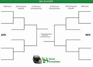 nfl playoff brackets With nfl playoff bracket template