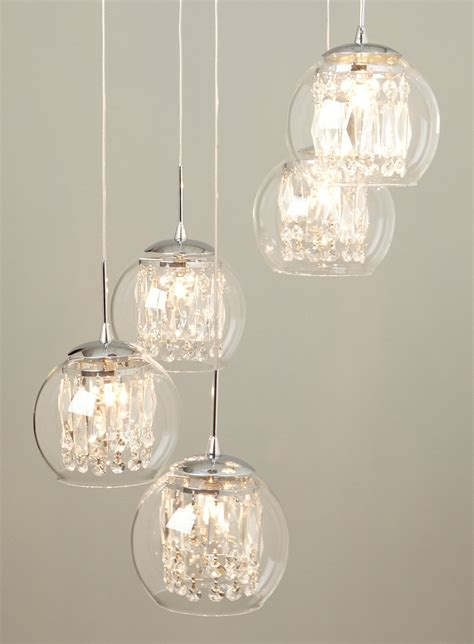 glass spiral pendant chandelier lighting for