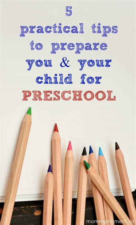 5 Practical Tips To Prepare You & Your Child For Preschool