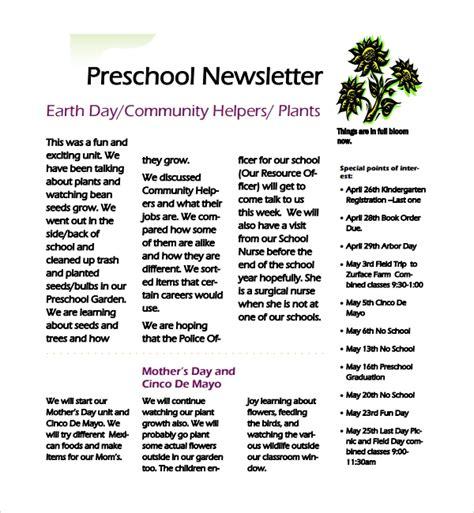 sample preschool newsletter 5 free for word pdf 667 | Simple Preschool Newsletter