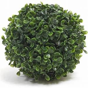 Boule Buis Artificiel : boule de buis artificiel 18 cm plantes artificielles d coration ~ Teatrodelosmanantiales.com Idées de Décoration