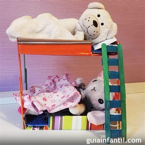 juguete reciclado paso a paso c 243 mo hacer literas de juguete para los mu 241 ecos de los ni