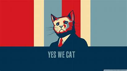 Yes Cat Obama Hope Humor Wallpapers Posters