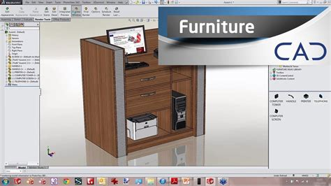 designing furniture  solidworks youtube