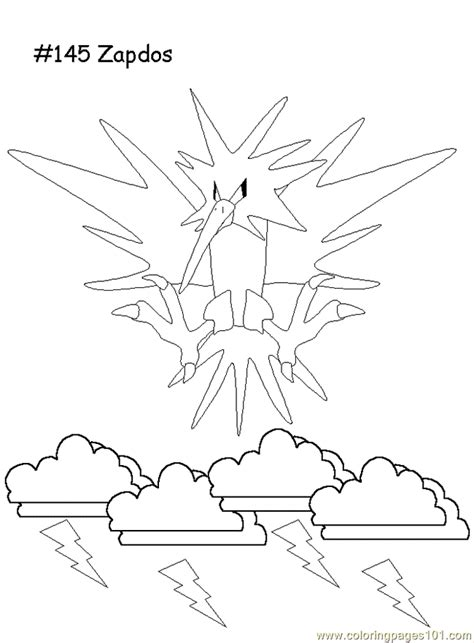 zapdos coloring page  pokemon coloring pages