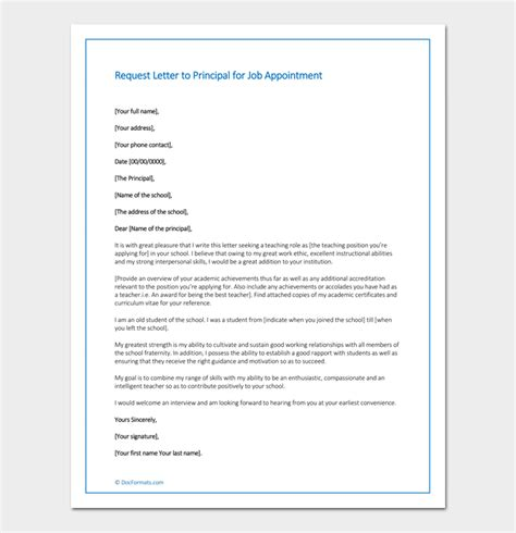 application letter  principal position elementary