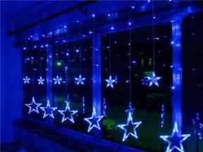 xmas ac110v 220v strobe light christmas stars style decorative string light for christmas partys