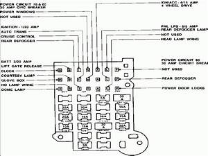 Gm 1986 S10 Fuse Panel Diagram