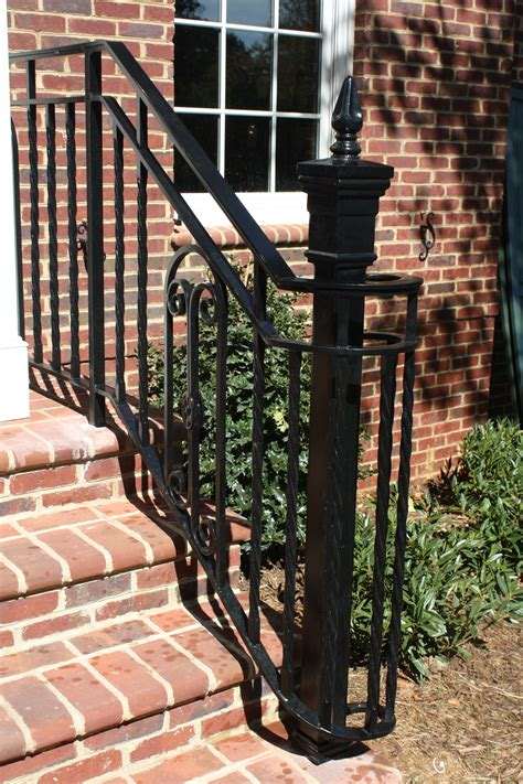 They're considered the ideal type of metal for railings and outdoors due to their strength, rigidity, and utility. Exterior Railings - Antietam Iron Works