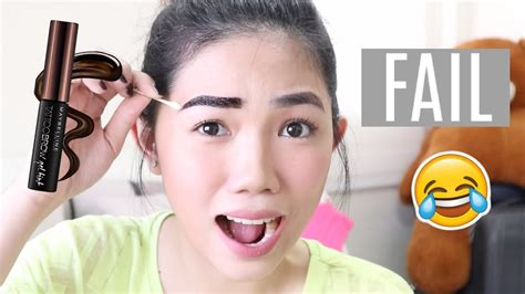 maybelline tattoo brow gel tint review demo philippines weeko funnycattv