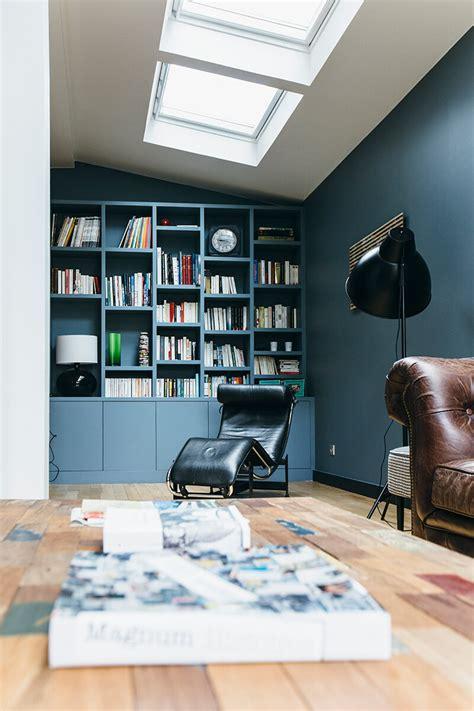 le de bureau bleu nuances de bleu style industriel frenchy fancy