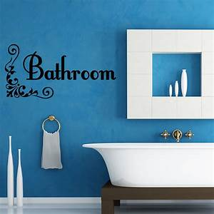 bathroom bath word vinyl decal wall quote art lettering With bathroom vinyl lettering wall art