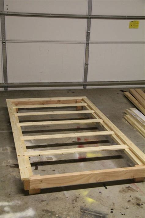 build  twin bed frame  trundle woodworking