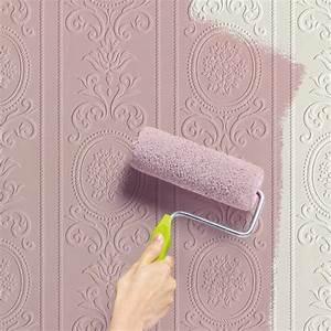 Peindre Sur Papier Peint Relief : papier peint peindre versailles coloris blanc papier ~ Dailycaller-alerts.com Idées de Décoration