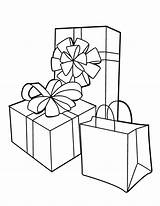 Coloring Gift Pages Colouring Comments Coloringhome sketch template