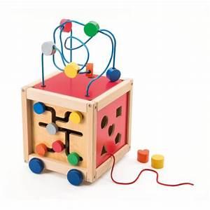 Cube En Bois Bébé : cube boulier d 39 activit s tirer en bois manibul cr ation oxybul pour enfant de 18 mois 5 ans ~ Melissatoandfro.com Idées de Décoration